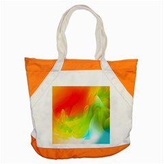 Red Yellow Green Blue Rainbow Color Mix Accent Tote Bag