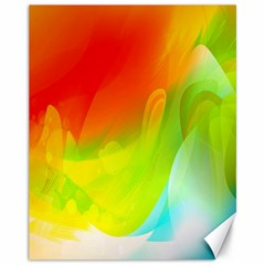 Red Yellow Green Blue Rainbow Color Mix Canvas 11  X 14