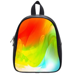 Red Yellow Green Blue Rainbow Color Mix School Bag (small)