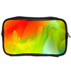 Red Yellow Green Blue Rainbow Color Mix Toiletries Bags