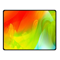 Red Yellow Green Blue Rainbow Color Mix Fleece Blanket (small)