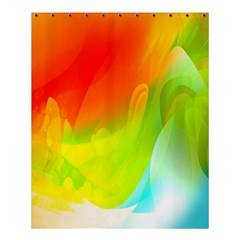 Red Yellow Green Blue Rainbow Color Mix Shower Curtain 60  X 72  (medium)