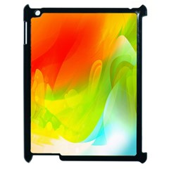 Red Yellow Green Blue Rainbow Color Mix Apple Ipad 2 Case (black)