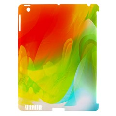 Red Yellow Green Blue Rainbow Color Mix Apple Ipad 3/4 Hardshell Case (compatible With Smart Cover)