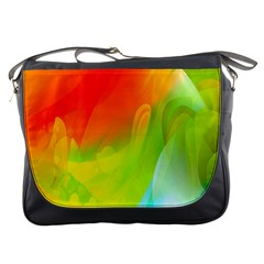 Red Yellow Green Blue Rainbow Color Mix Messenger Bags