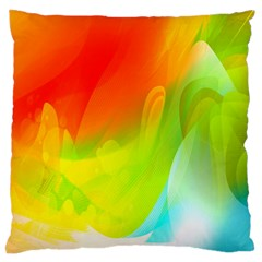 Red Yellow Green Blue Rainbow Color Mix Large Cushion Case (one Side)