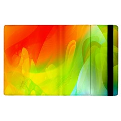Red Yellow Green Blue Rainbow Color Mix Apple Ipad 3/4 Flip Case