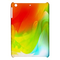 Red Yellow Green Blue Rainbow Color Mix Apple Ipad Mini Hardshell Case