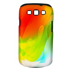 Red Yellow Green Blue Rainbow Color Mix Samsung Galaxy S Iii Classic Hardshell Case (pc+silicone)