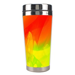 Red Yellow Green Blue Rainbow Color Mix Stainless Steel Travel Tumblers