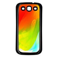 Red Yellow Green Blue Rainbow Color Mix Samsung Galaxy S3 Back Case (black)