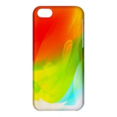 Red Yellow Green Blue Rainbow Color Mix Apple Iphone 5c Hardshell Case