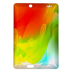 Red Yellow Green Blue Rainbow Color Mix Amazon Kindle Fire Hd (2013) Hardshell Case