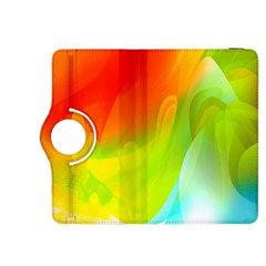 Red Yellow Green Blue Rainbow Color Mix Kindle Fire Hdx 8 9  Flip 360 Case