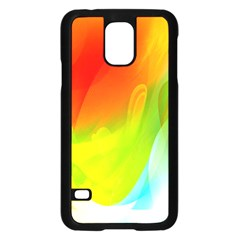 Red Yellow Green Blue Rainbow Color Mix Samsung Galaxy S5 Case (black)