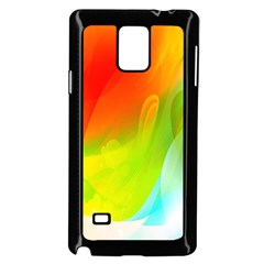 Red Yellow Green Blue Rainbow Color Mix Samsung Galaxy Note 4 Case (black)