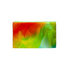 Red Yellow Green Blue Rainbow Color Mix Cosmetic Bag (xs)