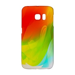 Red Yellow Green Blue Rainbow Color Mix Galaxy S6 Edge