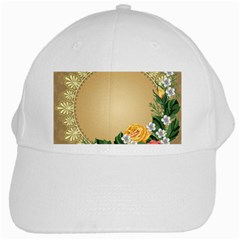Rose Sunflower Star Floral Flower Frame Green Leaf White Cap