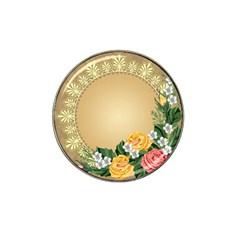 Rose Sunflower Star Floral Flower Frame Green Leaf Hat Clip Ball Marker