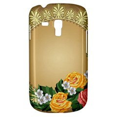 Rose Sunflower Star Floral Flower Frame Green Leaf Galaxy S3 Mini