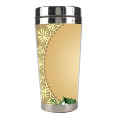 Rose Sunflower Star Floral Flower Frame Green Leaf Stainless Steel Travel Tumblers