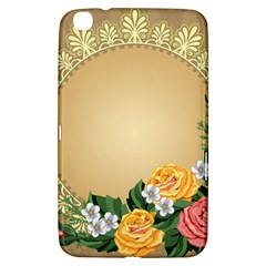 Rose Sunflower Star Floral Flower Frame Green Leaf Samsung Galaxy Tab 3 (8 ) T3100 Hardshell Case