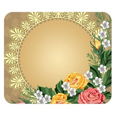 Rose Sunflower Star Floral Flower Frame Green Leaf Double Sided Flano Blanket (small)