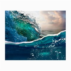 Sea Wave Waves Beach Water Blue Sky Small Glasses Cloth