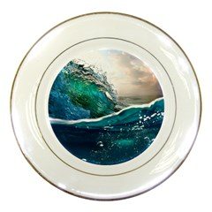 Sea Wave Waves Beach Water Blue Sky Porcelain Plates