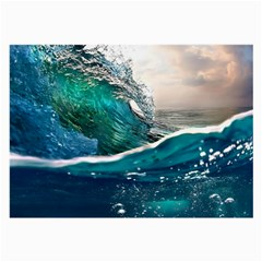 Sea Wave Waves Beach Water Blue Sky Large Glasses Cloth
