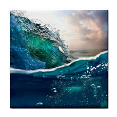 Sea Wave Waves Beach Water Blue Sky Face Towel