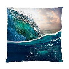Sea Wave Waves Beach Water Blue Sky Standard Cushion Case (two Sides)