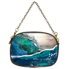 Sea Wave Waves Beach Water Blue Sky Chain Purses (two Sides)