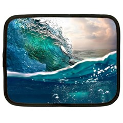 Sea Wave Waves Beach Water Blue Sky Netbook Case (xl)