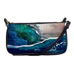 Sea Wave Waves Beach Water Blue Sky Shoulder Clutch Bags
