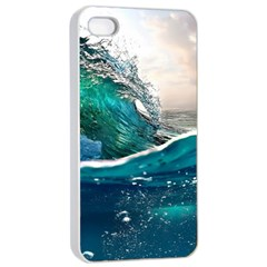Sea Wave Waves Beach Water Blue Sky Apple Iphone 4/4s Seamless Case (white)