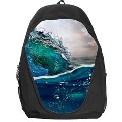 Sea Wave Waves Beach Water Blue Sky Backpack Bag