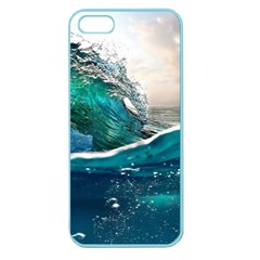 Sea Wave Waves Beach Water Blue Sky Apple Seamless Iphone 5 Case (color)