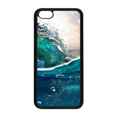 Sea Wave Waves Beach Water Blue Sky Apple Iphone 5c Seamless Case (black)