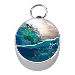 Sea Wave Waves Beach Water Blue Sky Mini Silver Compasses