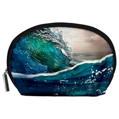 Sea Wave Waves Beach Water Blue Sky Accessory Pouches (large)