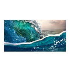 Sea Wave Waves Beach Water Blue Sky Satin Wrap