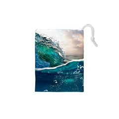 Sea Wave Waves Beach Water Blue Sky Drawstring Pouches (xs)