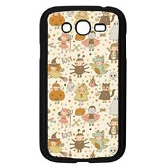 Sinister Helloween Cat Pumkin Bat Ghost Polka Dots Vampire Bone Skull Samsung Galaxy Grand Duos I9082 Case (black)