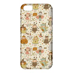 Sinister Helloween Cat Pumkin Bat Ghost Polka Dots Vampire Bone Skull Apple Iphone 5c Hardshell Case