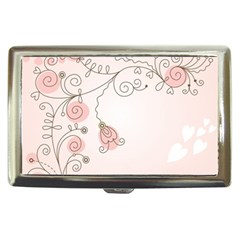 Simple Flower Polka Dots Pink Cigarette Money Cases