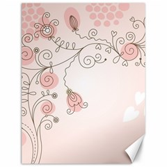 Simple Flower Polka Dots Pink Canvas 12  X 16