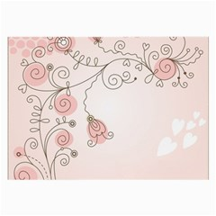 Simple Flower Polka Dots Pink Large Glasses Cloth