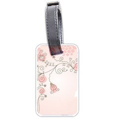 Simple Flower Polka Dots Pink Luggage Tags (one Side)